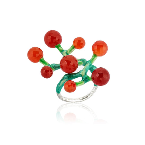 Big Ring - 925.Kt. Silver with Carnelian