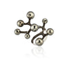 Constellation Collection Big Ring - 925 kt. Silver with Pyrite