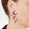 Earring - 925.Kt. Silver with Pear