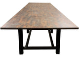 modsiLver's Break Table Industrial H-bases with Trout Dark Light Gloss Matte Brushed Combination Finish