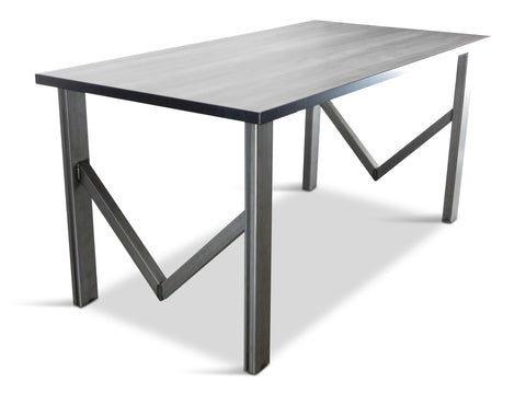 modLine M-bases in Trout Light Matte Table