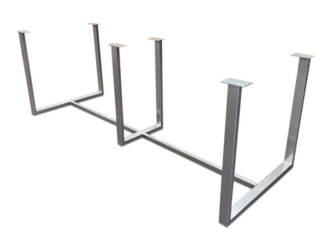 "modLine U-base 1.5"" x 3"" Profile with Cross-bars KromeZone Finish"