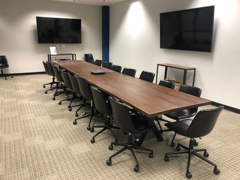 X-CONference modLine Bases in Black Make Sweet Conference Table