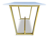 modLine Trapezoid Bar Height with Foot Rest Buttered Brass