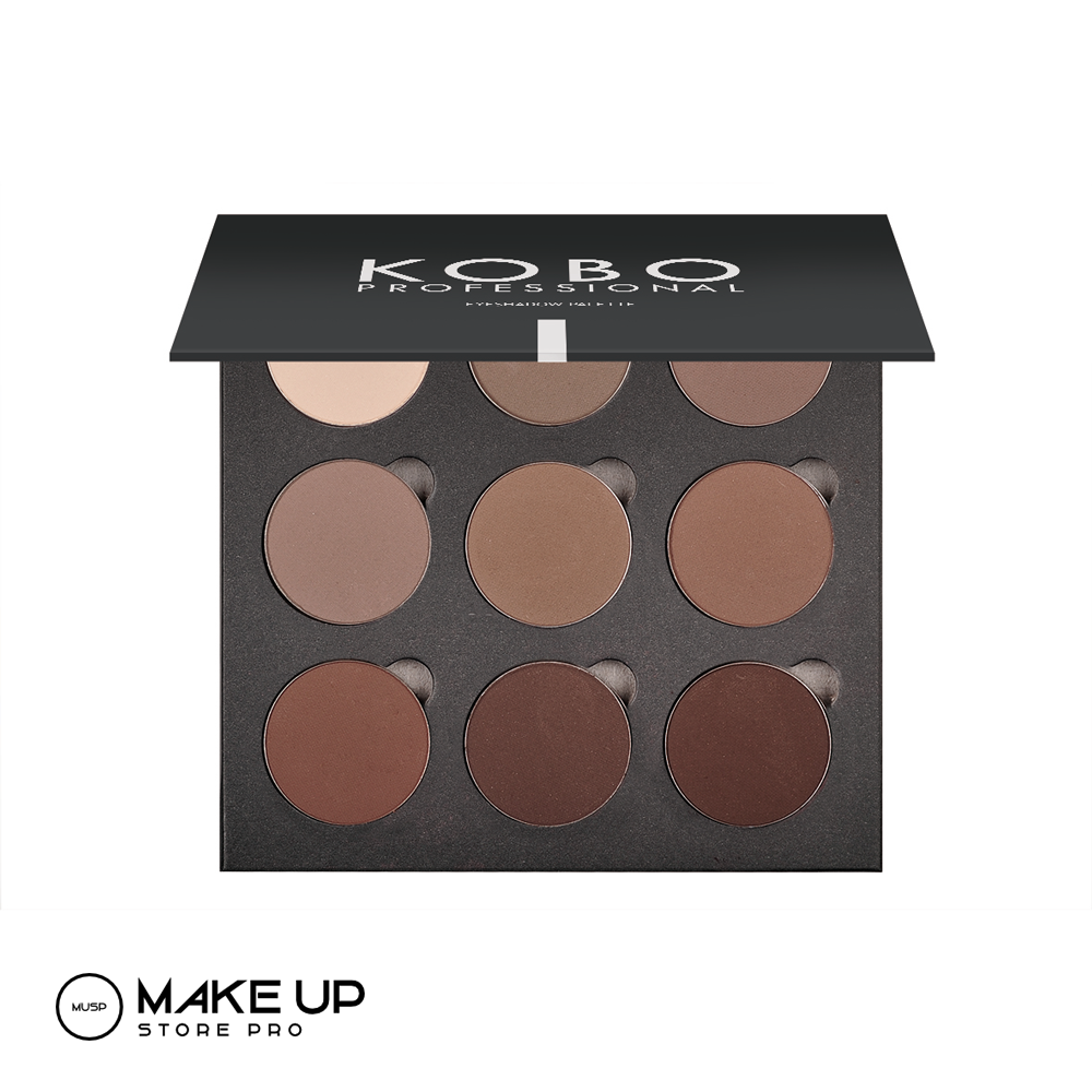 KOBO Eyeshadow Palette For Eyebrows 9x 01