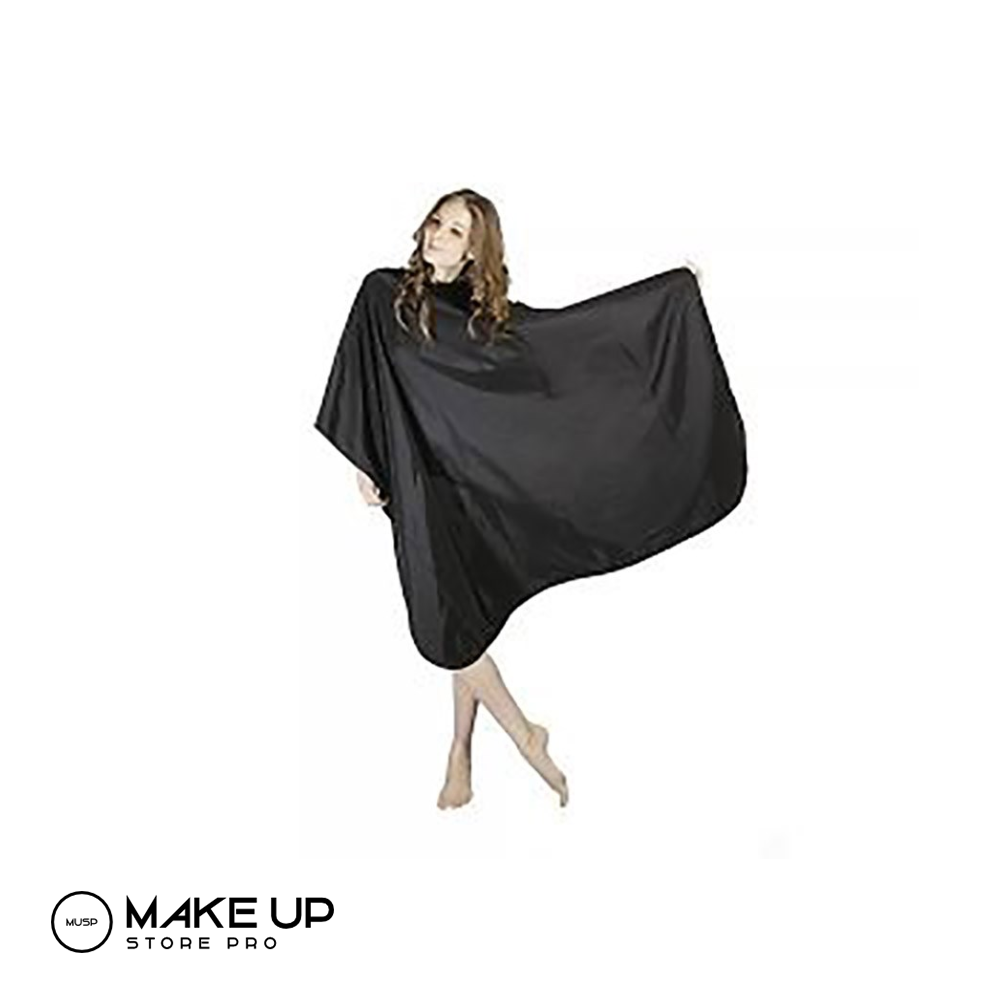 Hair Dressing Full Cape Black Stud