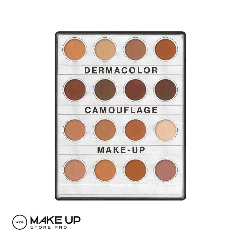 Derma colour cream makeup palette small - Dark