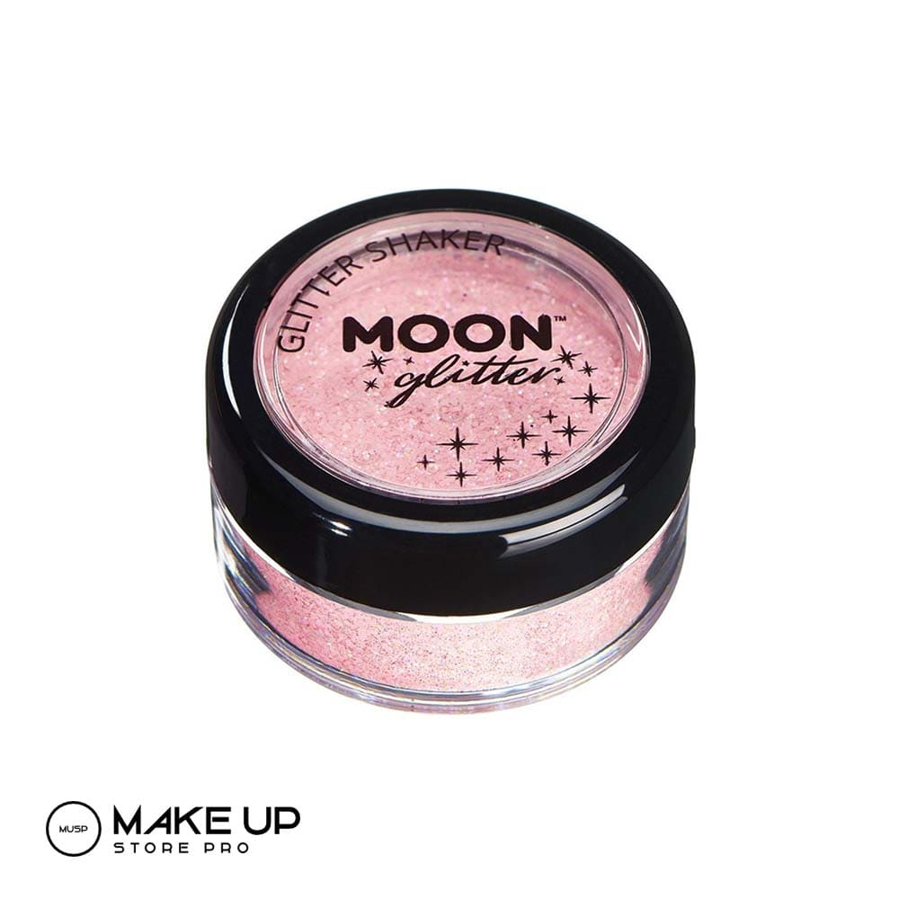 Moon Glitter Shaker - Coral