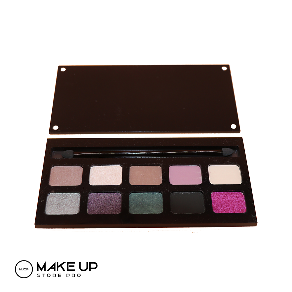 Palette of 10 Eye shadows - Double sided applicator!