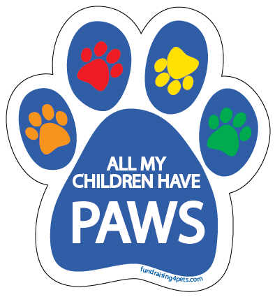 All my Children Have Paws Magnet