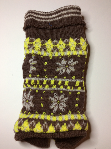 Brown and Yellow Holiday Sweater