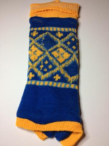 Blue and Yellow Argyle Sweater