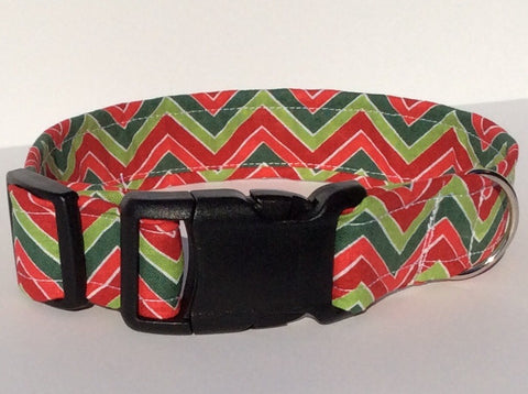 Red and Green Chevron
