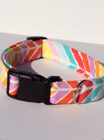 Rainbow Stripe Handmade Collar