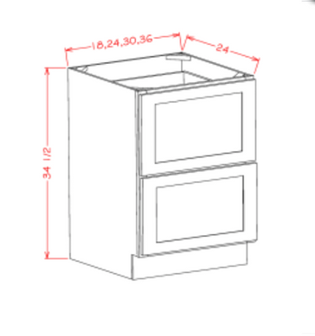 Base 2 Drawer Cabinet