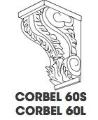 Corbel Small Carved