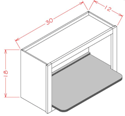 SHELF ONLY for Wall Microwave Cabinet
