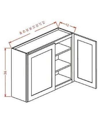 "36"" Wall Cabinet Two Doors"