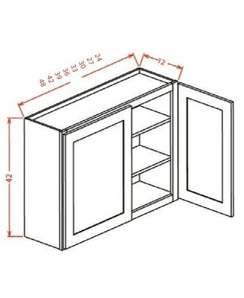 "42"" Wall Cabinet Two Doors"