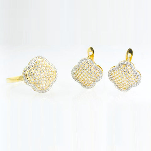 14 Kt Yellow Gold C/Z 3-Piece Set