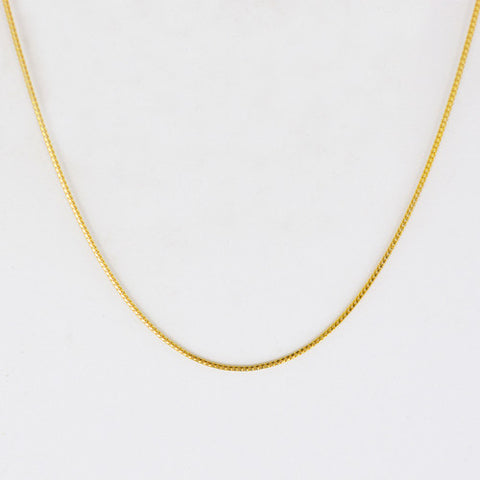 14 Kt Yellow Gold Ladies' Franco Style Chain