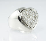18Kt White Gold Heart Ladies' Ring