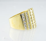 14Kt Yellow Gold & Diamond Ladies' Ring
