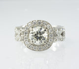 14 Kt White Gold Ladies' Diamond Ring