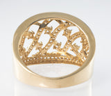 14 Kt Rose Gold C/Z Ladies' Ring