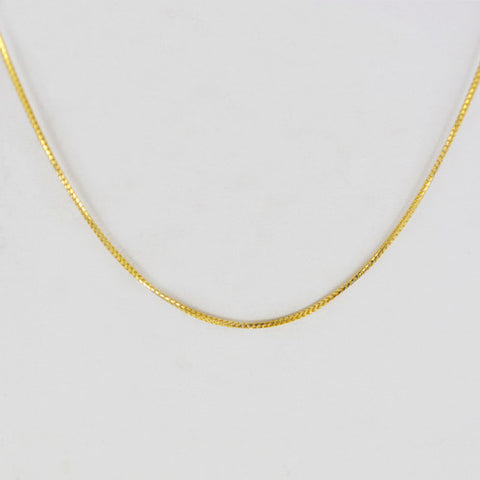 14 Kt Yellow Gold Ladies' Spiga Chain