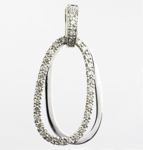 14 Kt White Gold Diamond Charm