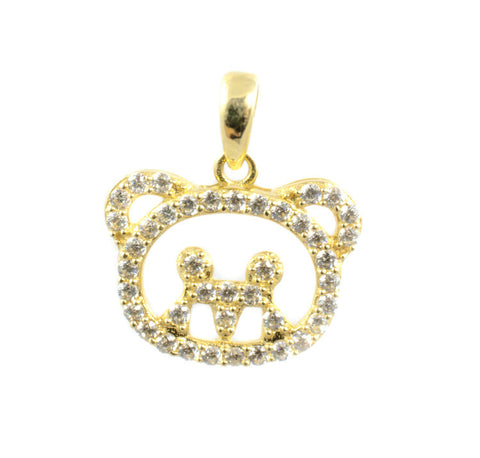 14 Kt Yellow Gold C/Z Hello Kitty Charm