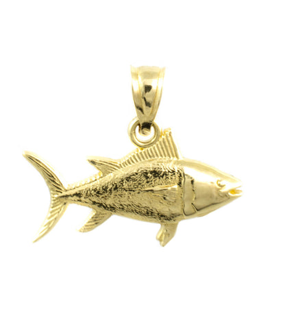 14 Kt Yellow Gold Fish Charm