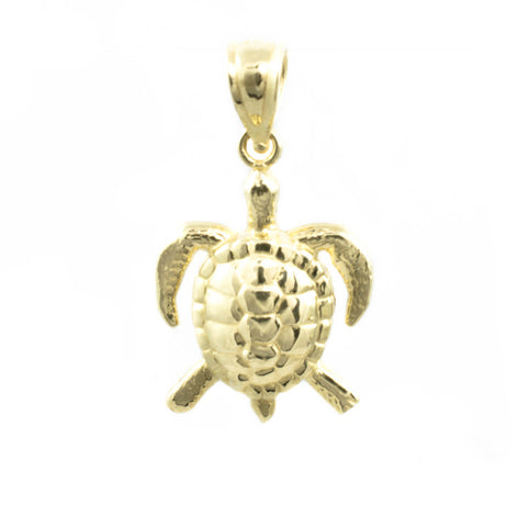 14 Kt Yellow Gold Turtle Charm