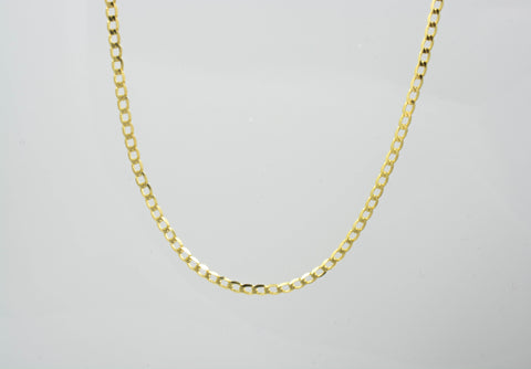 14 Kt Yellow Gold Lightweight Curb Child Chain