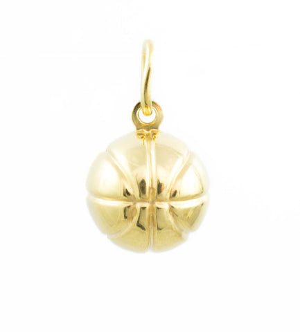 14 Kt Yellow Gold Basketball Charm