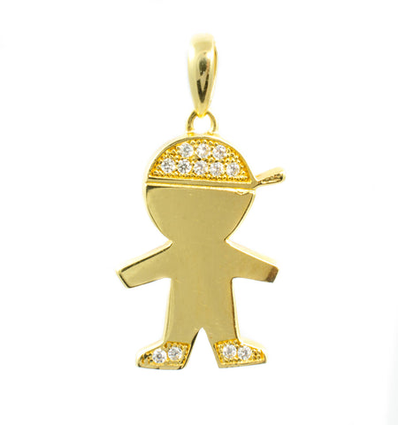 14 Kt Yellow Gold C/Z Boy Charm