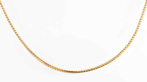 14 Kt Rose Gold Ladies' Franco Style Chain