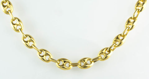 18 Kt Yellow Gold Ladies' Mariner Anchor Chain