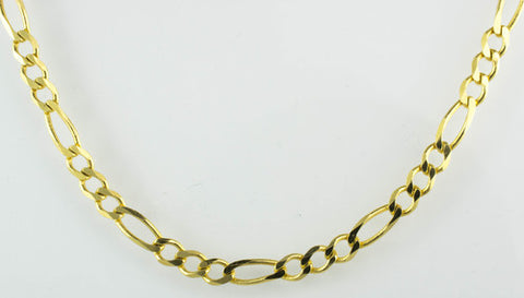 14 Kt Yellow Gold Ladies' Figaro Chain