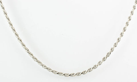 18 Kt White Gold Ladies' Rope Chain