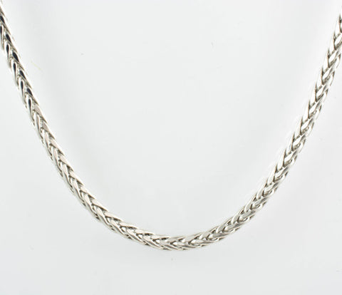 14 Kt Ladies' White Gold Square Spiga Chain