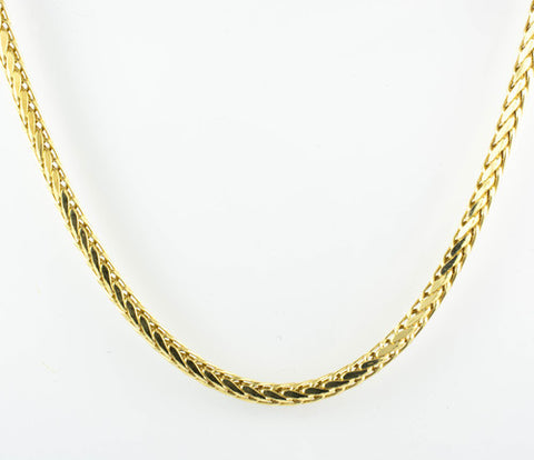 14 Kt Yellow Gold Ladies' Square Spiga Chain
