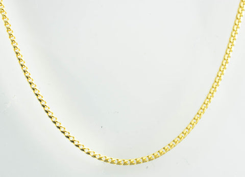 14 Kt Yellow Gold Ladies' Lightweight Curb Chain