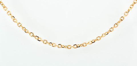 14 Kt Rose Gold Ladies' Round Open Link Cable Chain