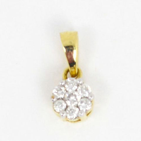 14 Kt Yellow Gold & Diamond Charm