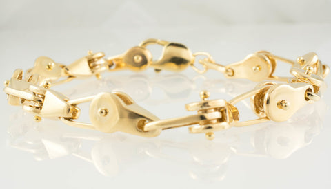 14 Kt Yellow Gold Fancy Men's Bracelet