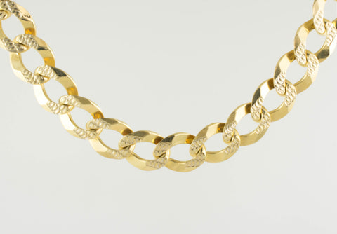 14 Kt Gold Italian Men's Bracelet