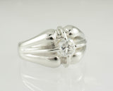 18 Kt White Gold Men's Diamond Ring