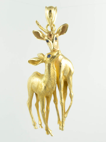 10 Kt Yellow Gold C/Z Deer Charm